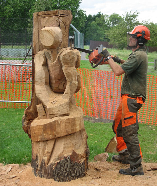 Wood carving in brockwell park the herne hill society