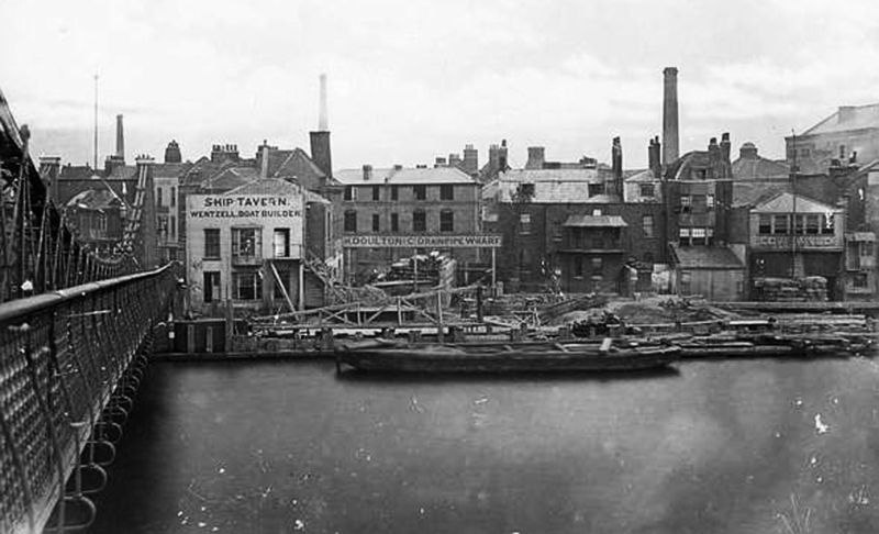 Old doulton pipe factory from Lambeth bridge