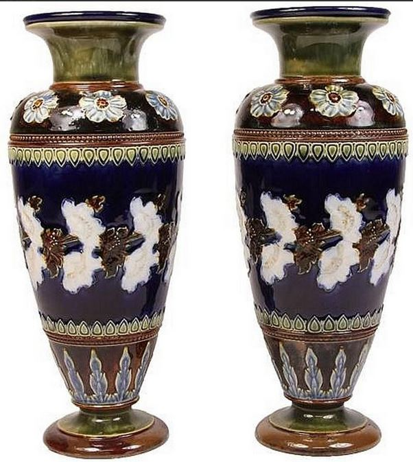 Two emily j. partington vases